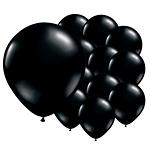 Onyx Black Latex Balloons 5'' pk 100