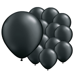 Pearl Onyx Black Latex Balloons 5'' pk 100