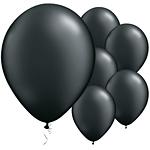 11'' Pearl Onyx Black Latex Balloons pk 25