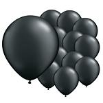 5'' Pearl Onyx Black Latex Balloons pk 100
