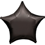 "19"" Black Star Foil balloon - each"