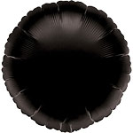 18'' Black Round Foil balloon - each