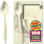 Vanilla Cream Party Plastic Spoons pk 100