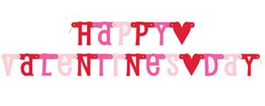 Valentines Radiant Heart Letter Banner - 1.87m