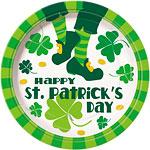 Happy St. Patrick's Day Jig Paper Plates 23cm pk 8