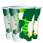 Happy St. Patrick's Day Jig Paper Cups 255ml pk 8