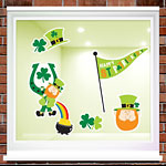 St. Patrick's Day Leprechaun Window Clings - 43cm
