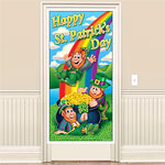 St. Patrick's Day Plastic Door Cover - 5ft