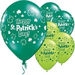 St. Patrick's Day Happy 11'' St Patrick's Day Printed Latex Balloons pk 25
