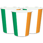 St. Patrick's Day Irish Flag Paper Cups pk 8