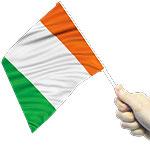 St. Patrick's Day Irish Waving Flags 15 x 22cm - pk 12