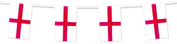 St. George's Day England Bunting 7m x 30cm