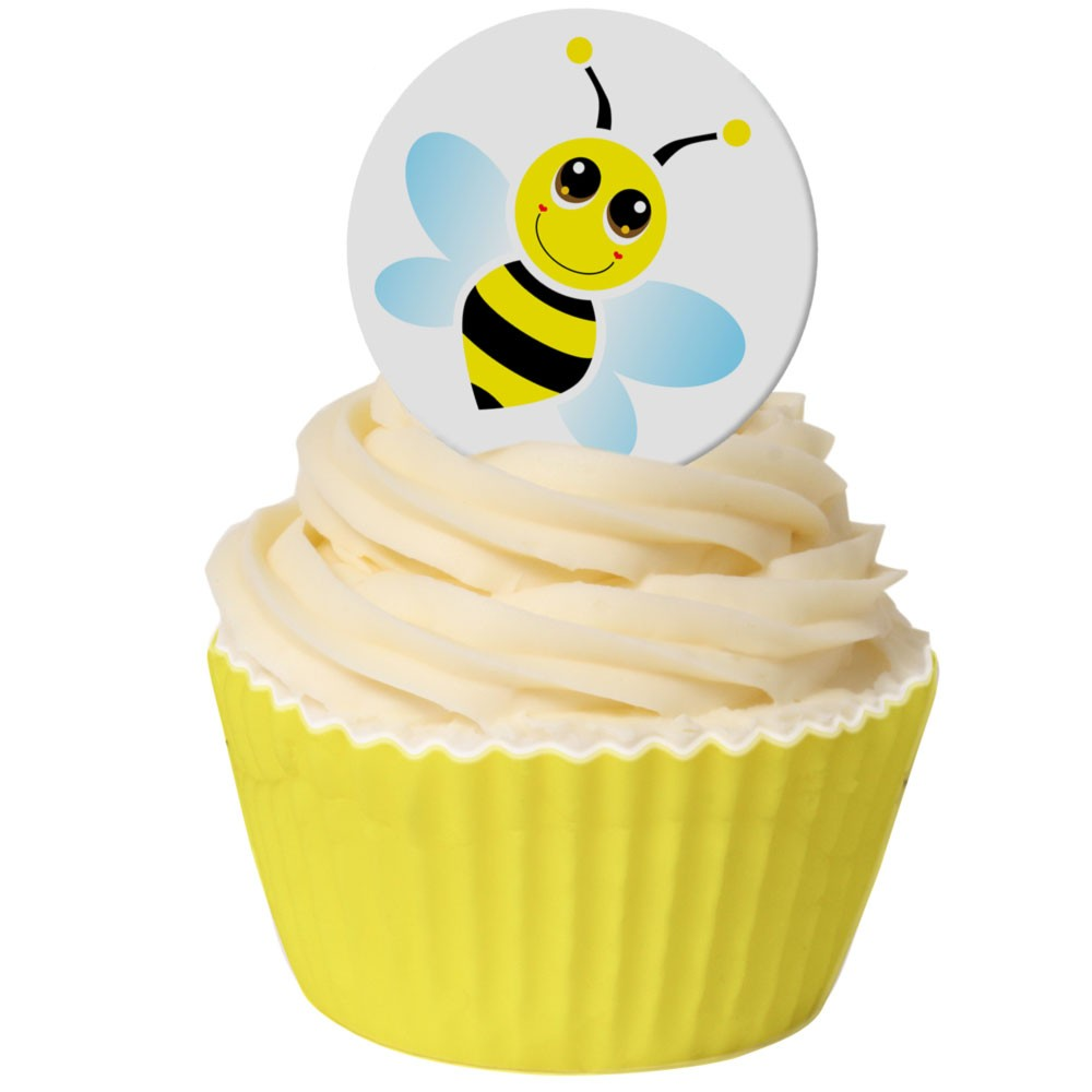 Bee themed Cupcake Toppers