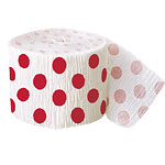 Red Polka Dot Crepe Decorating Roll - 30 foot long