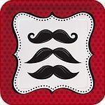Moustache Madness - 18cm Paper Dessert Plates  Pk 8