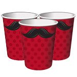Moustache Madness Paper Cups