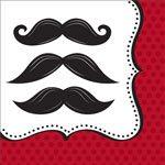 Moustache Madness Paper Party Napkins