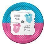 Baby Shower Bow or Bow Tie themed paper plates