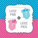 Baby Shower Bow or Bow-tie Paper Napkins - 3ply Pk 16