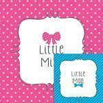 Baby Shower Bow or Bow-tie Paper Beverage Napkins