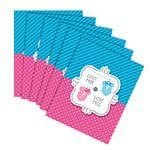 Baby Shower Bow or Bow-tie invitation Cards pk 8