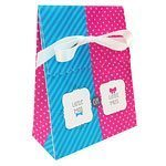 Baby Shower Bow or Bow-tie Party Paper Favour Bags Pk 12