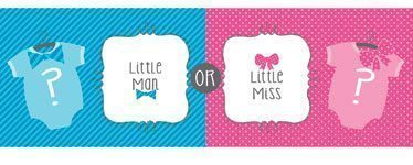Baby Shower Bow or Bow-tie Giant Banner - 1.5m