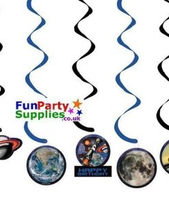 Space Blast Party Dizzy Dangler Decorations Pk 5
