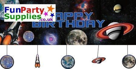 Space Blast Party Giant Banner 1.5m