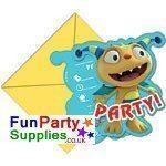 Henry Hugglemonster Party Invites Pk 6