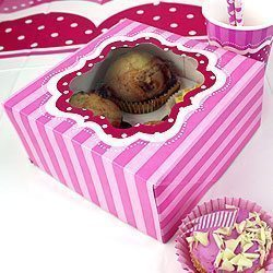Perfectly Pink Birthday Cupcake Boxes Pk 2