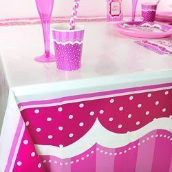 Perfectly Pink Plastic Tablecover