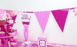 Perfectly Pink Birthday Happy Birthday Bunting - 12ft