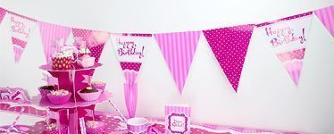 Perfectly Pink Birthday Happy Birthday Bunting - 12ft