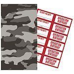 Operation Camo Paper Treat Bags with Stickers Pk 6