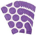 Purple Polka Dot Paper Bags Pk 10