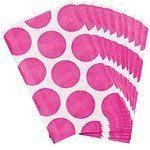 Bright Pink Polka Dot Paper Bags Pk 10
