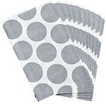 Silver Polka Dot Paper Bags Pk 10