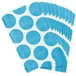 Caribbean Turquoise Blue Polka Dot Paper Bags Pk 10
