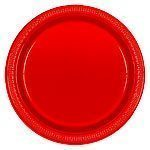 Red Serving Plates