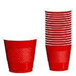 Apple Red Party Plastic Cups 266ml Pk 20