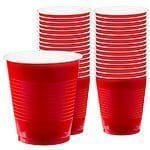 Apple Red Party Plastic Cups 355ml Pk 50
