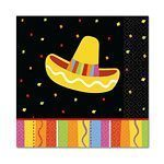Mexican Fiesta Party Beverage Napkins 25cm Pk 16