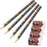 Disney Cars Neon Party Bag Fillers - Pencils & Erasers Pk 4