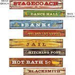 Wild West Party Western Sign Cutouts 60cm pk 4