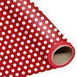 Red Polka Dot Wrapping Paper 76cm x 1.5 metres