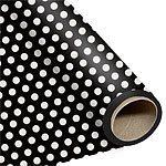 Black Polka Dot Wrapping Paper 76cm x 1.5m
