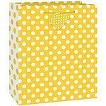 Yellow Polka Dot Gift Bag - each