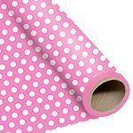 Pink Polka Dot Wrapping Paper 76cm x 1.5 metres