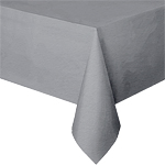 Silver Tablecover, paper, seats 8